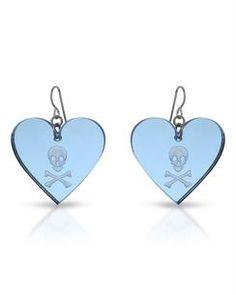 EMMA BRITE Brand New Heart Earrings  Metallic Metal. Total item weight 6.3g  Length 46mm