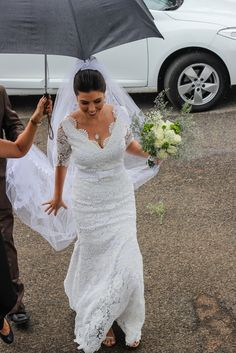 Vestido de Noiva feito sob medida - Noiva Denise - Renda Guippir - Laçarote - Catalão GO