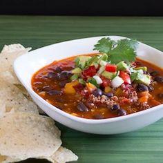 Vegetarian Black Bean Chili HealthyAperture.com