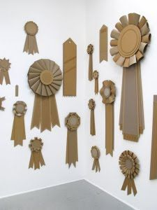 gigantic ribbon awards - this would be cute for important accomplishments