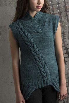 Askew Vest - Knitting Daily