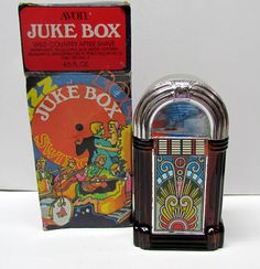 Vintage  AVON Juke Box Bottle / Decanter Figurine, with original box, Bottle is Empty - Home Decor - Collectible Avon by VINTAGEandMOREshop on Etsy https://www.etsy.com/listing/263942146/vintage-avon-juke-box-bottle-decanter
