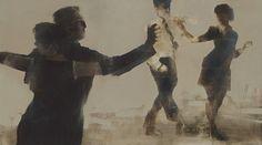 Alexander Zhernokluev - Composition 7, oil on canvas, 75 х 135cm, 2014