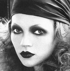 Kate Moss as a silent film era actress..