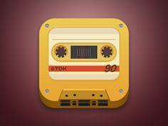 Cassette App Icon by Nir Shalev