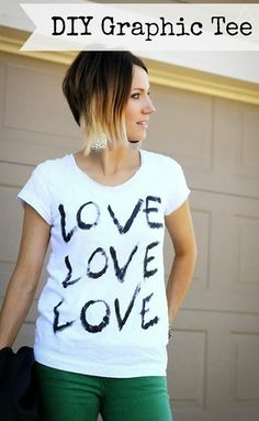 this is a DIY!!  I am in love with this shirt - have to make one for myself!