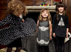 Dolce & Gabbana Kids collection- I want to recreate the skirt/cardi/graphic tee combo for an adult. Love.