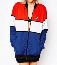 Le Coq Sportif Color Block Bomber Jacket