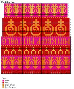Hønsestrikk - chickenknitting: Rødstrømper til kvinnedagen mars - OPS… Fair Isle Chart, Fair Isle Pattern, Fall Knitting, Knitting Charts, Knitting Patterns, Crochet Patterns, Cross Stitch Bookmarks, Charts And Graphs, Chart Design