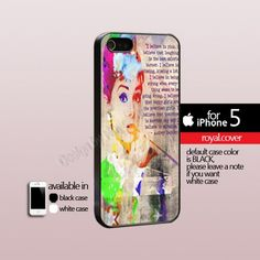 Andre Hepburn Quote Pain Colorful - Print Hard Cover For iPhone 5