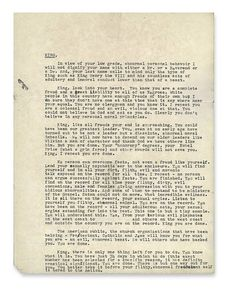 What an Uncensored Letter to M.L.K. Reveals via NY Times.