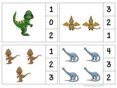 Dinosaurs Count & Clip #1-30