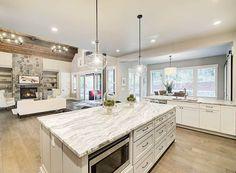 Amazing One-Level Craftsman House Plan - 23568JD | Architectural Designs - House Plans New House Plans, House Floor Plans, Open Floor Plans, One Level House Plans, One Level Homes, Open Concept Floor Plans, Single Story Homes, Best Kitchen Designs, Kitchen Ideas