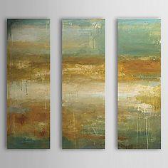【今だけ☆送料無料】 アートパネル  抽象画3枚で1セット 錆び塗装 壁画風 断層 地層【納期】お取り寄せ2~3週間前後で発送予定