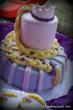 Rapunzel girl Birthday Party cake!  See more party ideas at CatchMyParty.com!
