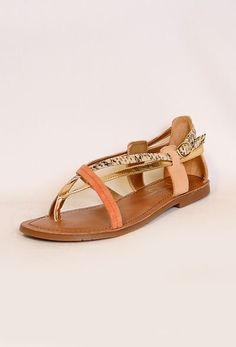 Multi Strap Flat Sandal...extras for the beach party!  #PrivateGallery #SummerMustHaves