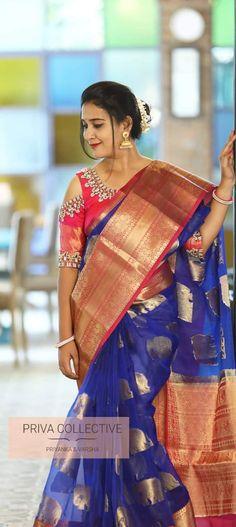 Whatsapp to order Designer Kora organza sarees with contrast border and elephant motifs Kora Silk Sarees, Wedding Costumes, Chiffon Saree, Saree Styles, Saree Collection, Indian Girls, Indian Sarees, Saree Blouse, Wedding Designs