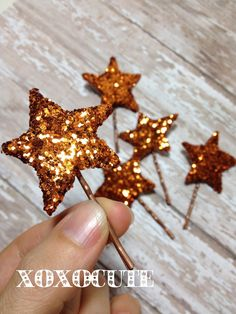 Star bobby pin Hair Clips - Hair Clips - Infant Hair Clips -  glitter star Hair clip ,Girl, Baby, Children clippies by Xoxocute on Etsy. $14.00, via Etsy.