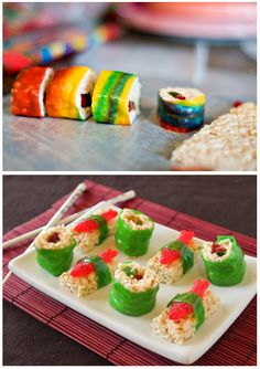 Candy Sushi. Perfect for a kids party.