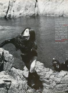 Christy Turlington in Omaggio a 007 Vogue Italia, September 1990 Shot by Ellen Von Unwerth Styled byAlice Gentilucci