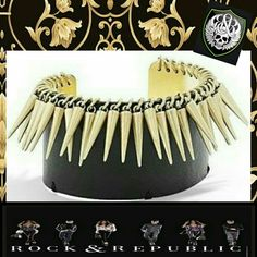 I just discovered this while shopping on Poshmark: Spiked Cuff Cluster Bracelet ROCK&REPUBLICNWT. Check it out! Price: $11 Size: adjustable, listed by pixxiestiixx