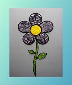 Flower 16 x 20 in. Canvas #LiteralPopArt #PopArt #Art #Flowers #Petals #Nature #Garden Organic #Green #GoingGreen #Gray #Grey #50Shades #MichaelCrayola #2017