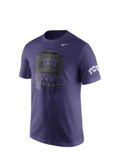 Nike TCU Horned Frogs Mens Purple Campus Elements Short Sleeve T Shirt - 12514394