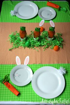 Easter Tablescape for Kids