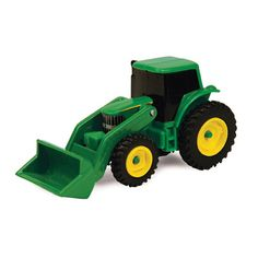 Mini John Deere tractor is compatible with most of the Ertl Collect N Play accessories and implements. Featuring a die cast chassis, authentic John Deere decoration and free rolling wheels; this tract