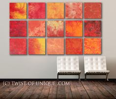 HUGE Multiple panels abstract Wall Art CUSTOM 15 by TwistOfUnique, $900.00