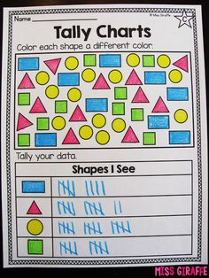 Tally charts worksheets and math centers that are so fun to practice graphing with tallies