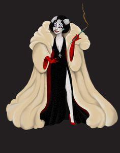Cruella De Vil (Glamorous Fashion by Katifisen @deviantART) #101Dalmatians