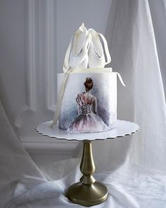 russian-cakes by Elena Gnut Dance Cakes, Ballet Cakes, Ballerina Cakes, Gorgeous Cakes, Pretty Cakes, Amazing Cakes, Russian Cakes, Hand Painted Cakes, Cake Blog