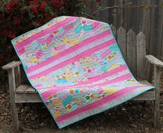 """Shifty Chevrons Modern QUILT PATTERN Baby Quilt Finished Size 36"""" x 44"""""""
