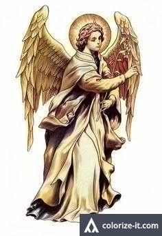Erzengel Gabriel Abgesandter des Herrn - Angels are all we need - Religion Jesus Tattoo, Catholic Art, Religious Art, Tattoo Sketches, Tattoo Drawings, Religion Tattoos, Archangel Tattoo, Angel Tattoo Designs, Ange Demon