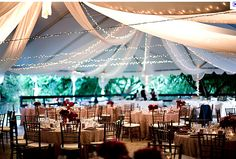 Pretty tent lights We can make wedding lighting! Visit, www.weddingmusicandlights.it, we are based in Tuscany, Italy