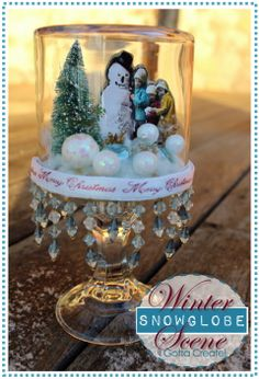 Fantastically Beautiful Snow Globes, full tutorial...So vintage looking, I love this!