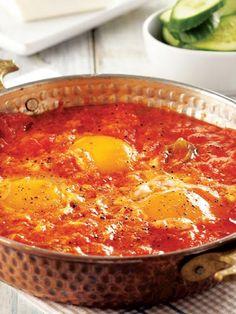 Egg Recipes, Healthy Recipes, Turkish Breakfast, Turkish Kitchen, Arabic Food, Turkish Recipes, Mediterranean Recipes, I Foods, Love Food