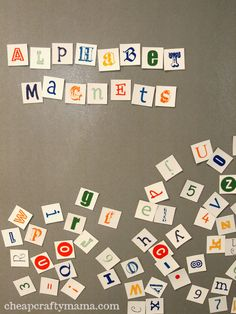 Alphabet Magnets {free printable}-- makes a great gift!