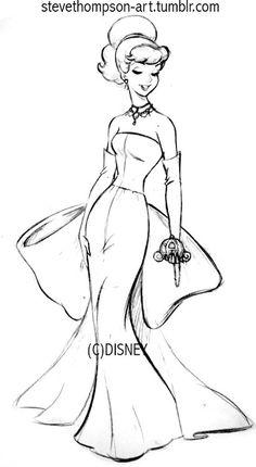 Steve Thompson — I came across my original sketch of Cinderella...