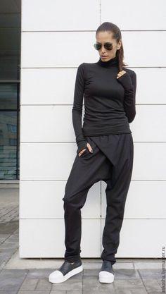 Купить Брюки Must have - черный, черные брюки, брюки, брюки женские, стильные брюки