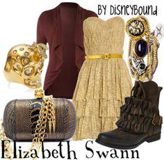 Elizabeth Swann - Pirates of the Caribbean Disneybound Elizabeth Swann, Disney Bound Outfits, Disney Dresses, Disney Clothes, Cosplay Informal, Cosplay Casual, Disney Inspired Fashion, Disney Fashion, Look 2017