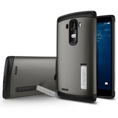 LG G4 Kılıf, Spigen Slim Amor - Gun Metal