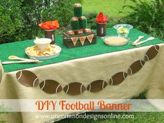 DIY Tailgating Football Banner