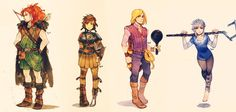BIG FOUR GENDERBENDS by Maby-chan on deviantART