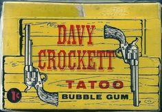 Topps Bubbles Inc. Davy Crockett Tatoo display box (1956)
