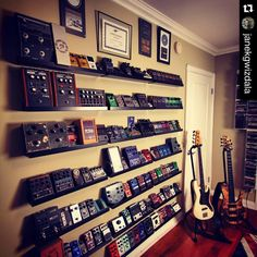 """""""#Repost @janekgwizdala with @repostapp. ・・・ Cleaning up the #pedallibrary and making some new sounds for the solo record... Need to get the rest of them…"""""""