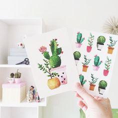 Vrolijk bericht op deze stralende zaterdag! Binnenkort in de shop het werk van @liefs_karlijn {photo credits liefskarlijn} #comingsoon #liefskarlijn #postcards #plants #cactus #plantlove #illustration #petitelouisenl #kaartjes #paperlove by petitelouise_nl