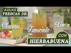 ¿Cómo preparar Aguas de Naranja, Limón con Jengibre y Tamarindo con Hierbabuena? - YouTube | Refréscate con bebidas ricas y saludables.   #CocinaFresca es presentada por Walmart ¡Suscríbete!