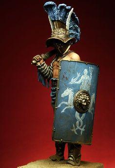 Murmillo pegasomodels, Roman gladiator toy solider.